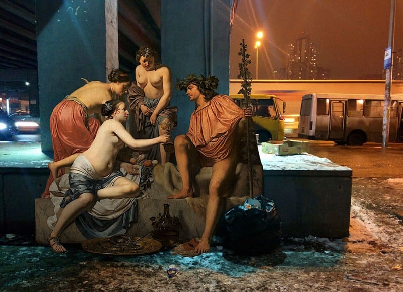 classical paintings modern life 2reality alexey kondakov 1