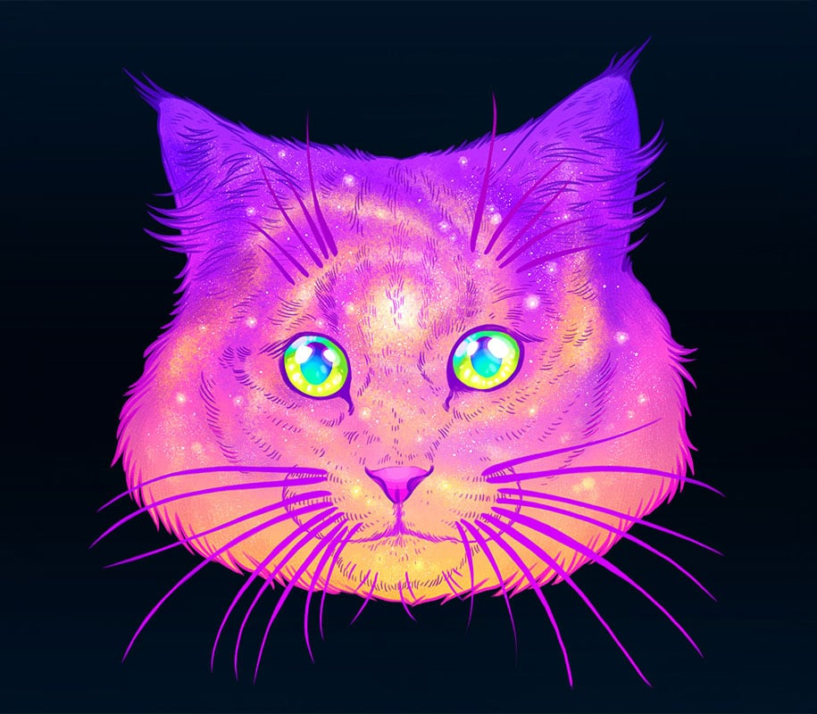 colorful space felines galactic cats jen bartel 1