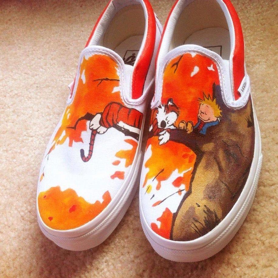 custom shoe paintings pop culture laces out studios 1