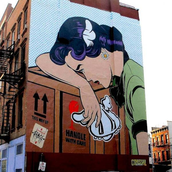 dface street art mural in brooklyn nyc600 600