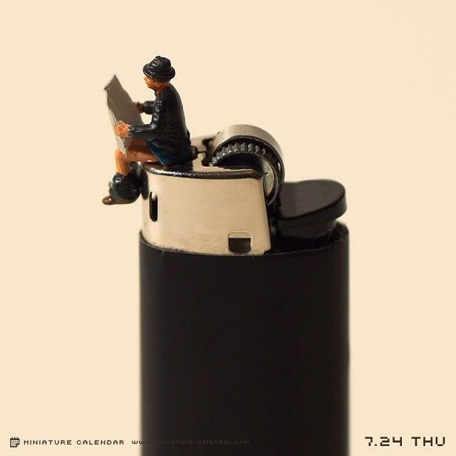 diorama miniature calendar art every day artist tanaka tatsuya 26