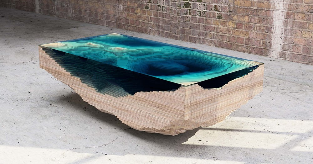duffy layers the abyss table to look like ocean depths 1