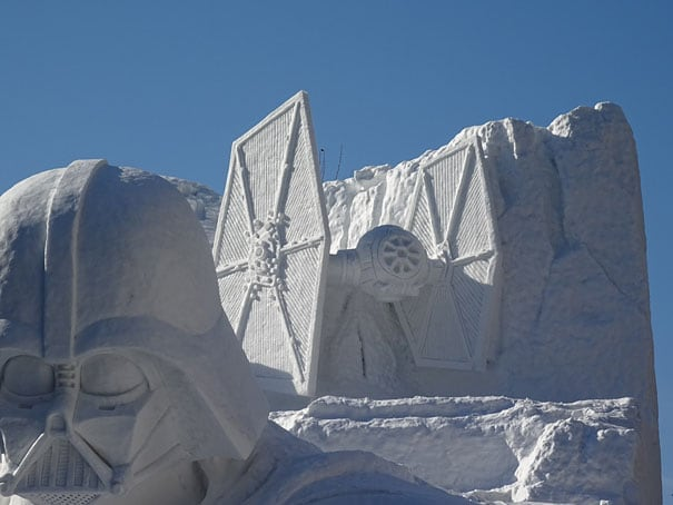 giant star wars snow sculpture sapporo festival japan 10