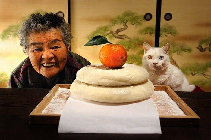 grandmother and cat miyoko ihara fukumaru 1