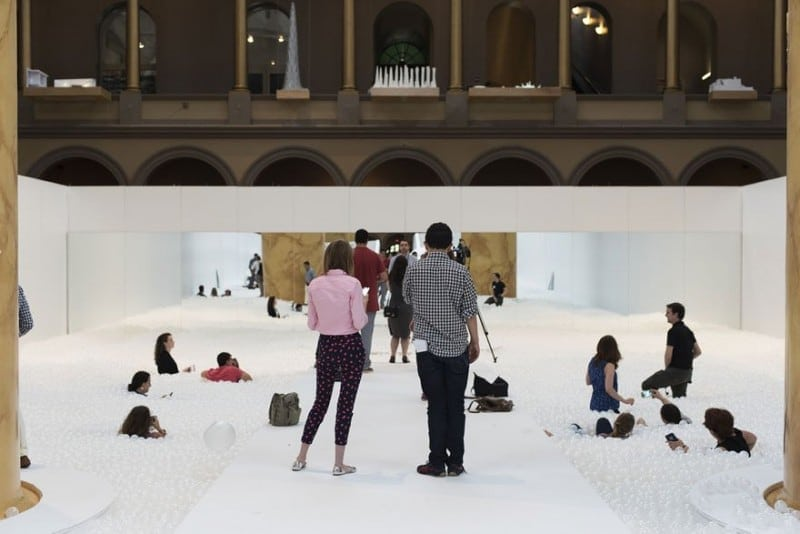 indoor ball pit bubble ocean the beach snarkitecture national building museum 2