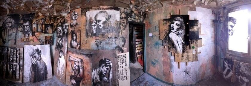matthieu laine abandoned apartment portraits residents fy 1