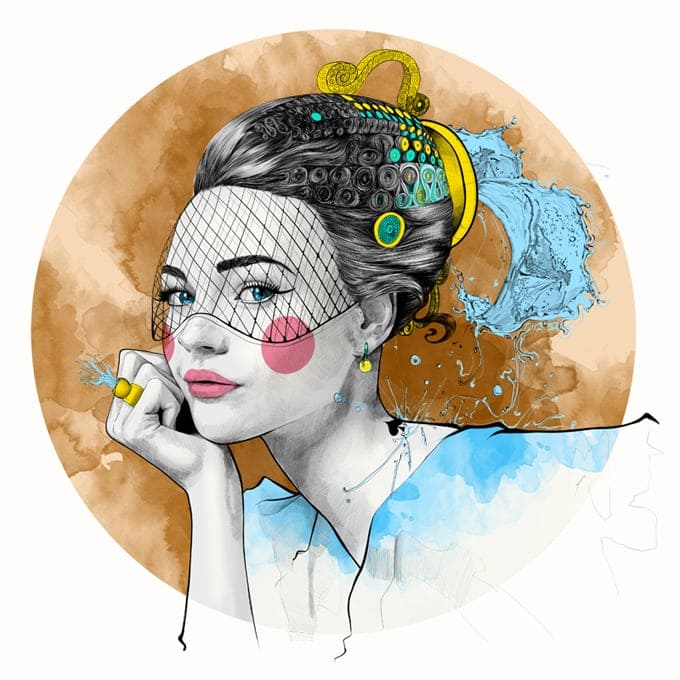 mustafa soydan astro illustrations Aquarius