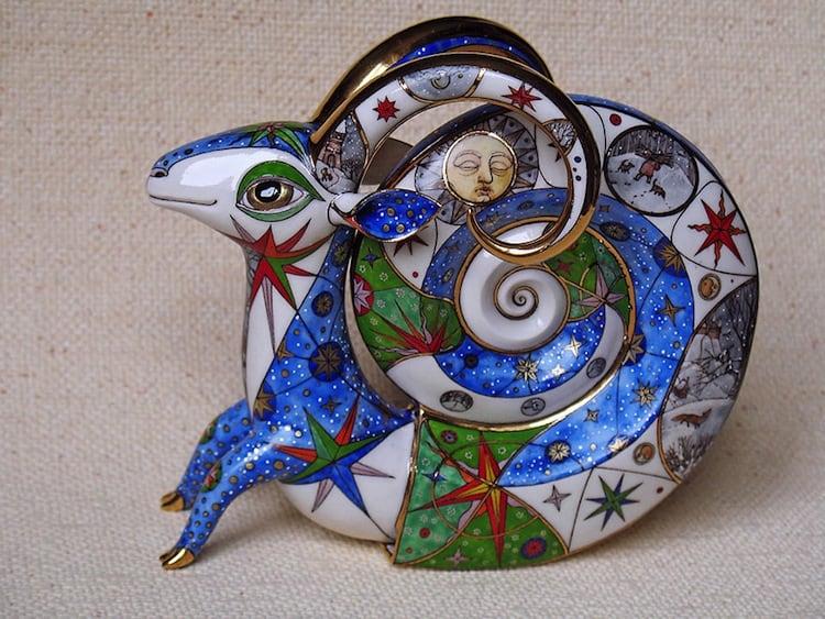 porcelain antlers