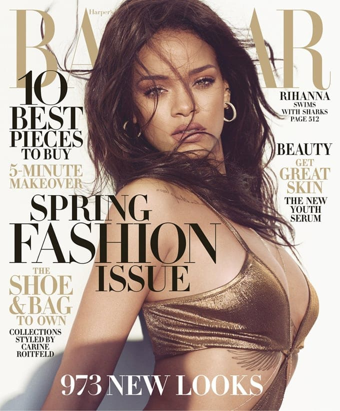 rihanna sharks harpers bazaar march 2015 photoshoot1