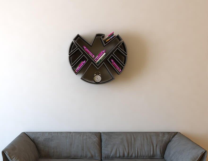 superhero bookshelves burak dogan 1