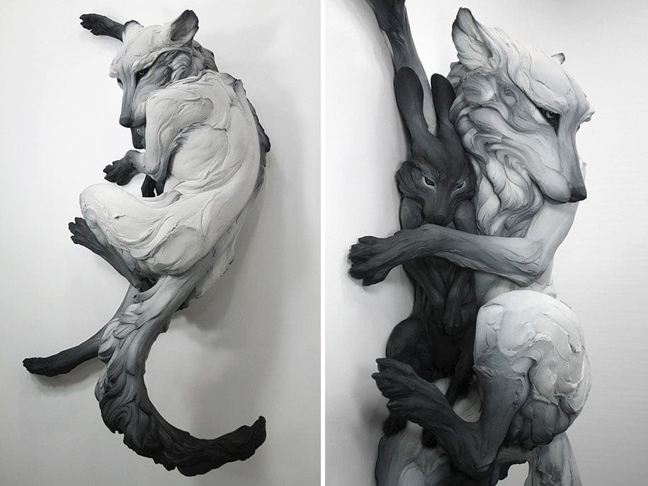 terrible animal sculptures expressing human psychology beth cavener stichter 1