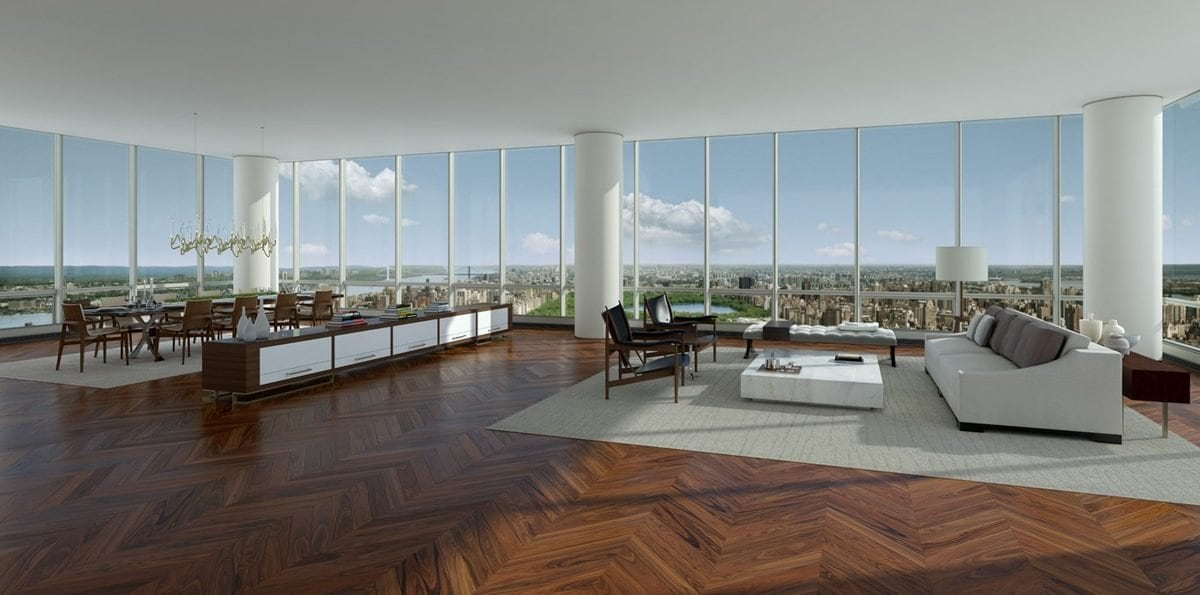 the stunning duplex has six bedrooms and occupies 11000 square feet of space