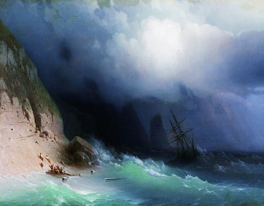 translucent waves 19th century painting ivan konstantinovich aivazovsky 14