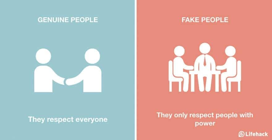 genuine people vs fake lifehack 8
