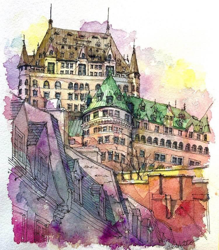 horiaki2 watercolor architecture 11