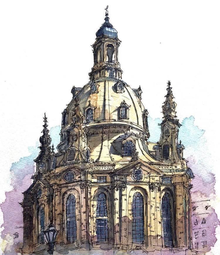 horiaki2 watercolor architecture 6