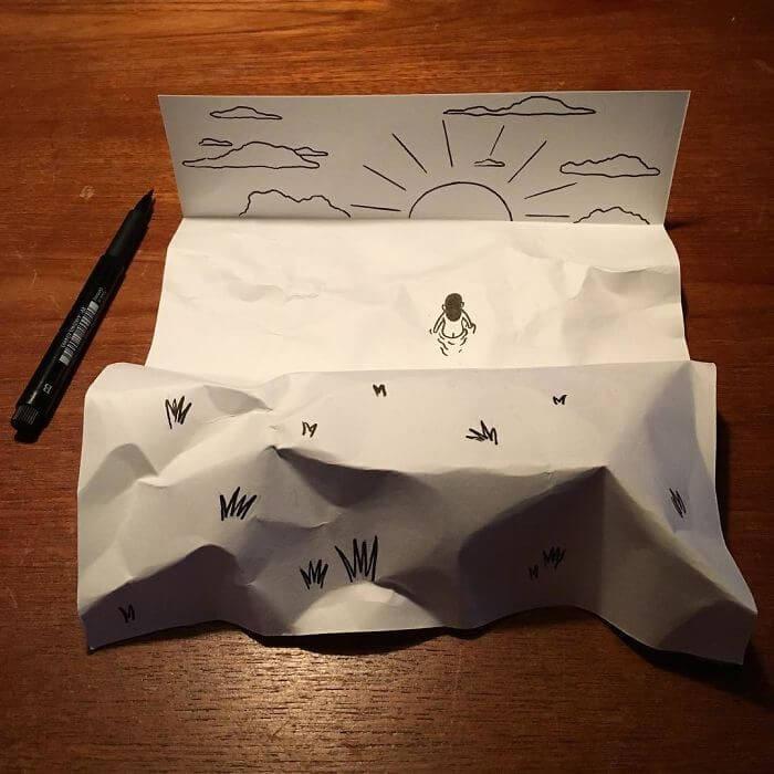 3d paper art huskmitnavn 1