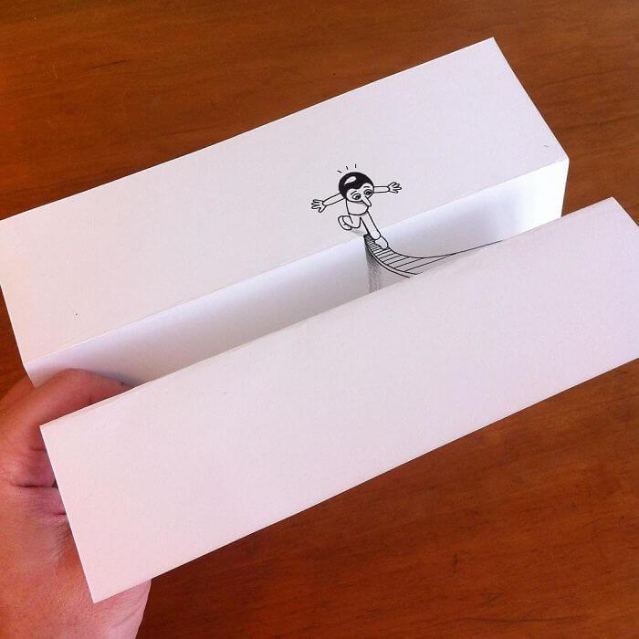 3d paper art huskmitnavn 11
