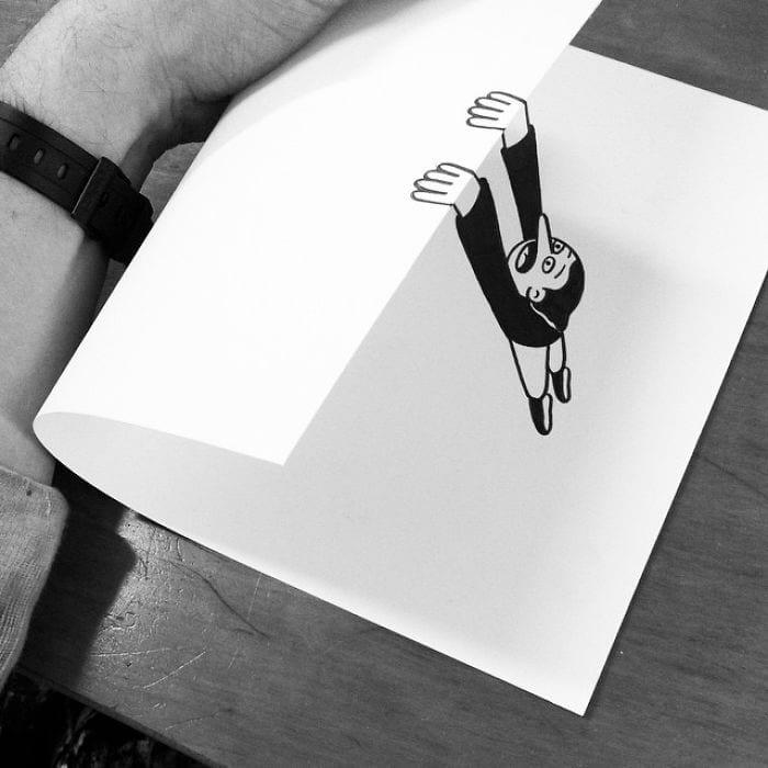 3d paper art huskmitnavn 12