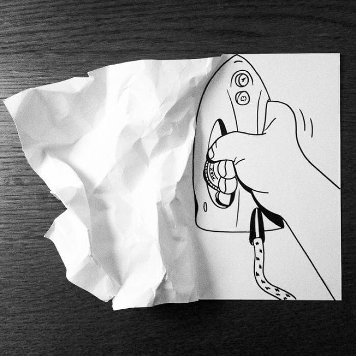 3d paper art huskmitnavn 13