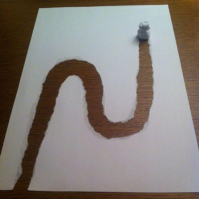 3d paper art huskmitnavn 14