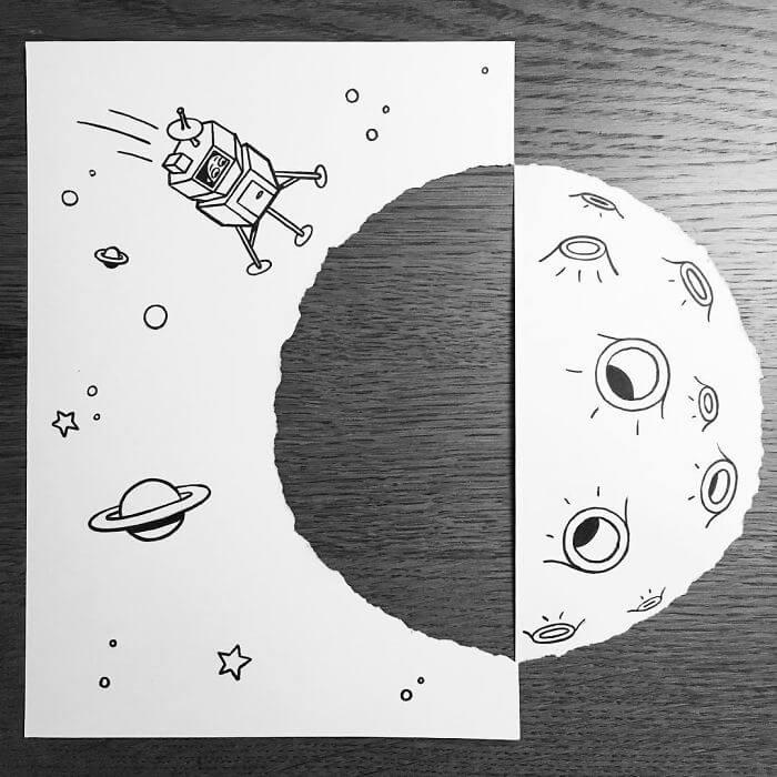 3d paper art huskmitnavn 17