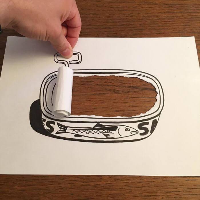 3d paper art huskmitnavn 2