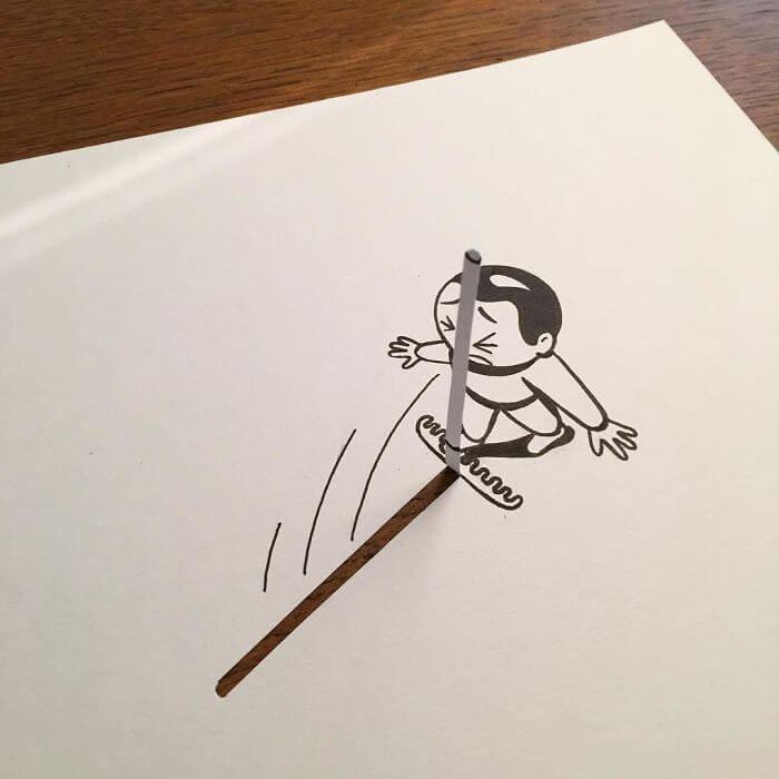 3d paper art huskmitnavn 3