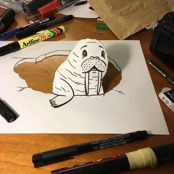 3d paper art huskmitnavn 7