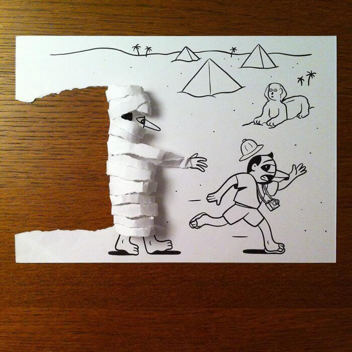 3d paper art huskmitnavn 9
