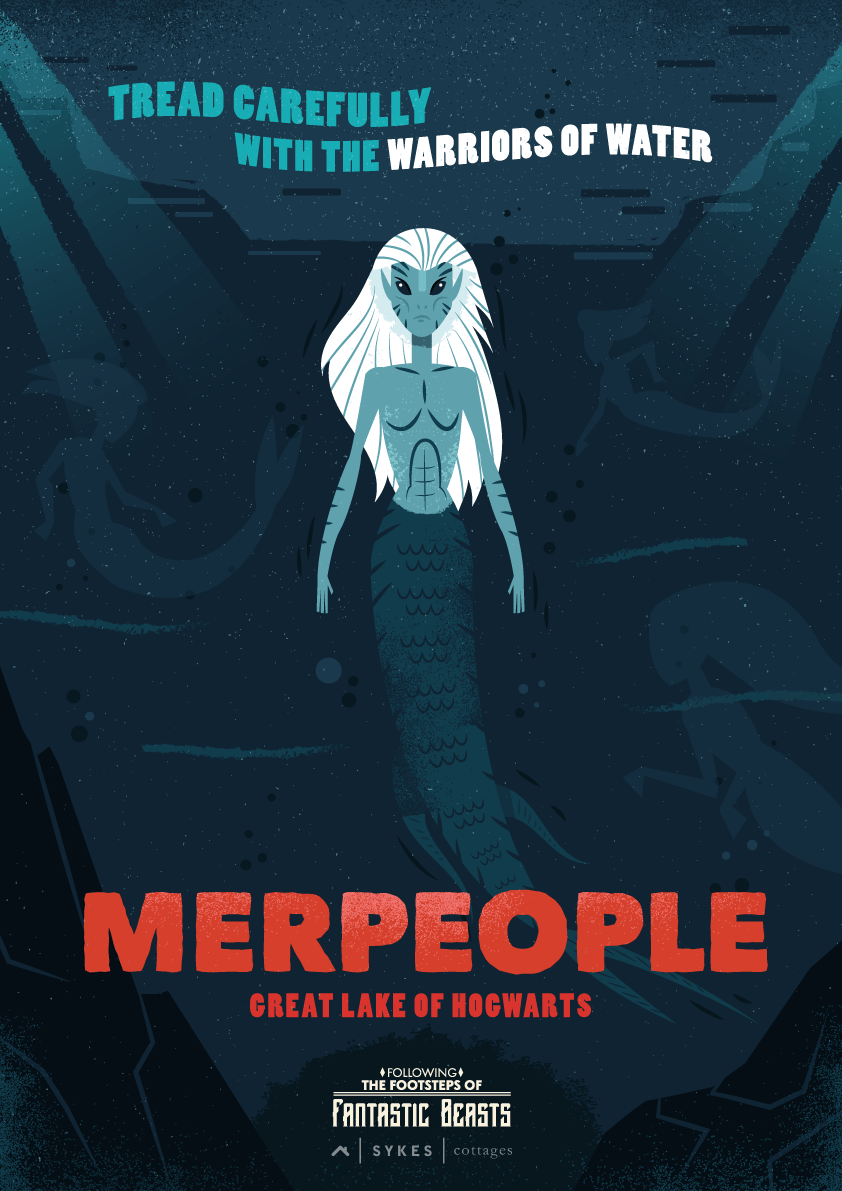 Fantastic Beasts Travel Posters Merpeople