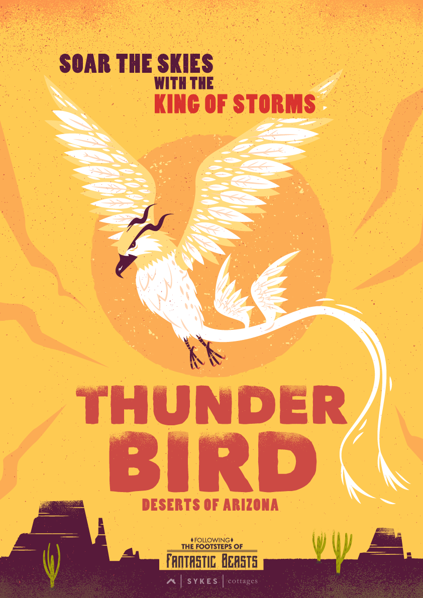 Fantastic Beasts Travel Posters Thunderbird