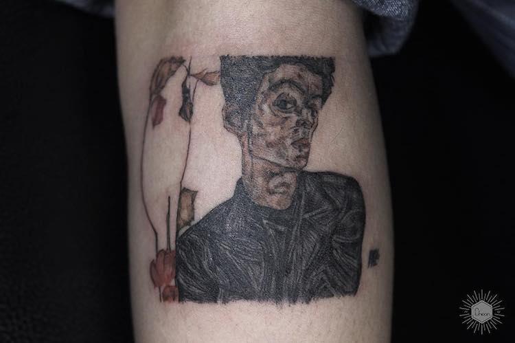 art history tattoo eheon 16