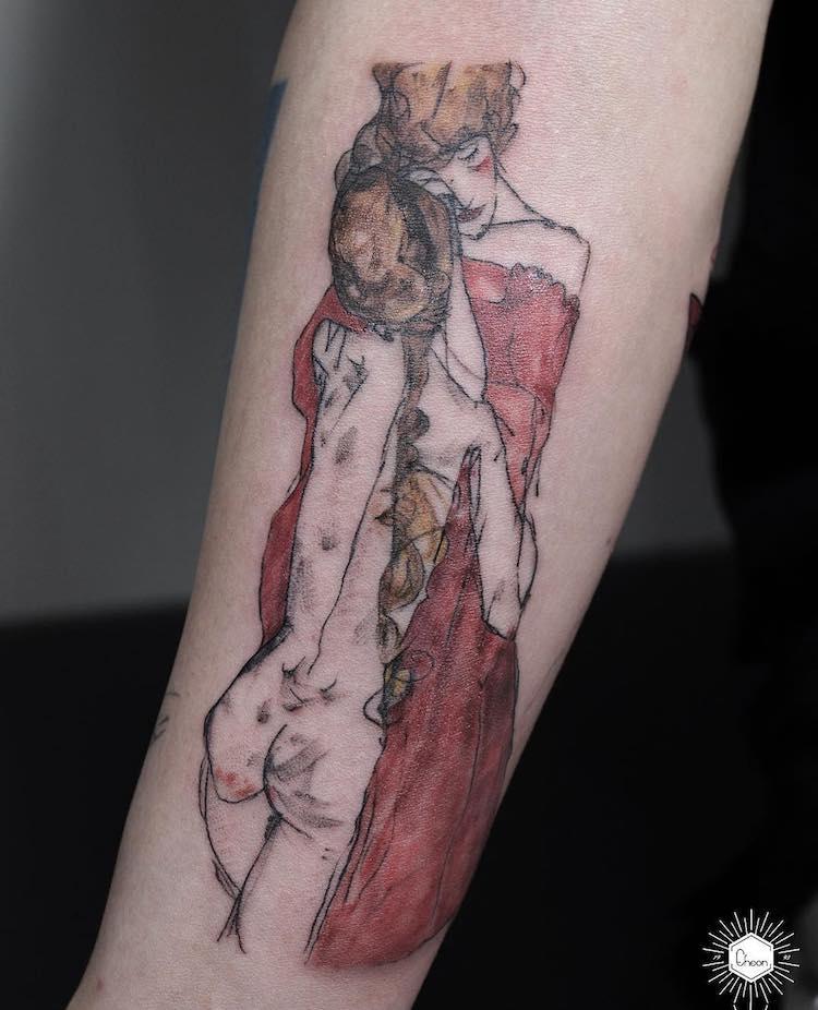 art history tattoo eheon 21