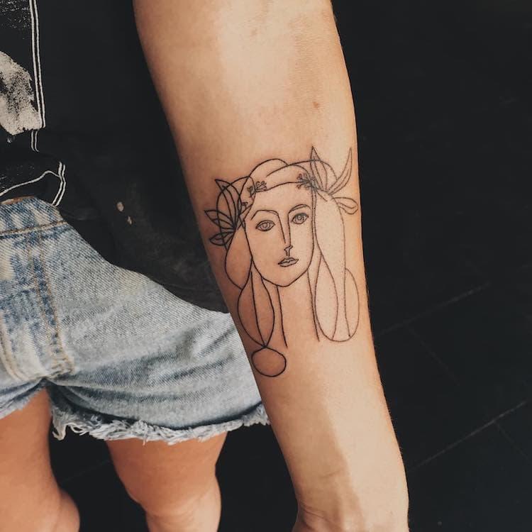 art history tattoo olivia harrison 3
