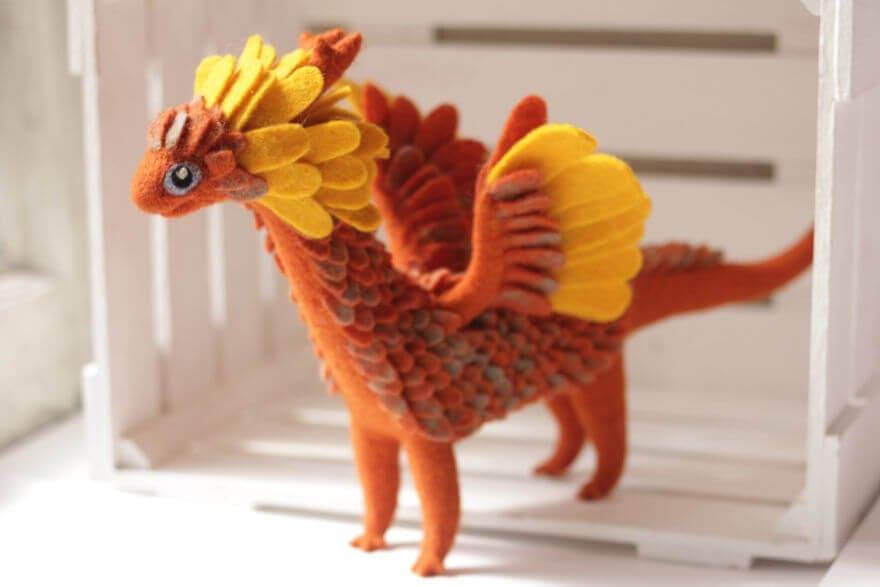 felt dragons alena bobrova 6