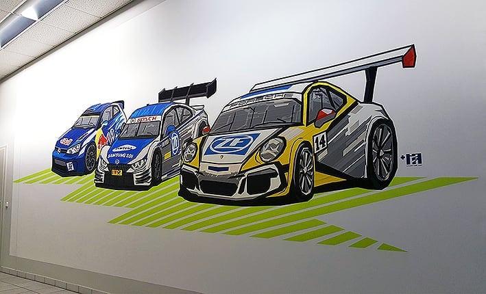 racing car duct tape graffiti selfmadecrew 2016