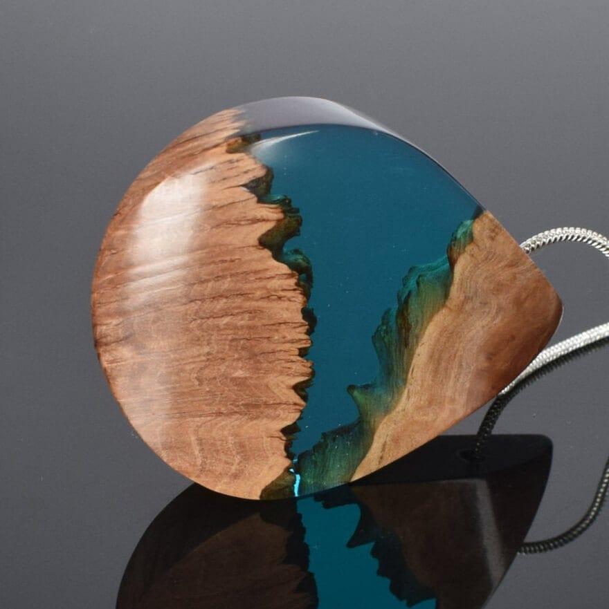 wood resin jewellery 1