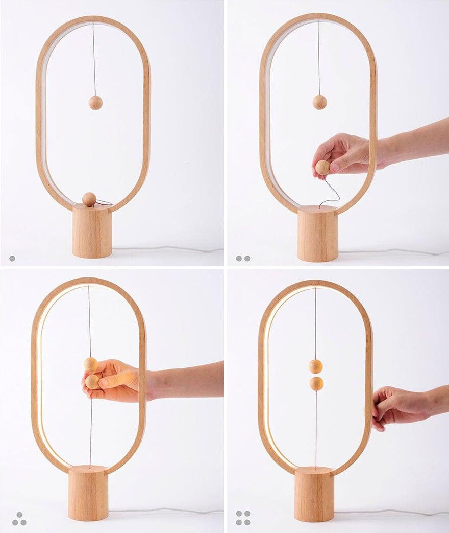 wooden lamp levitating switch 7