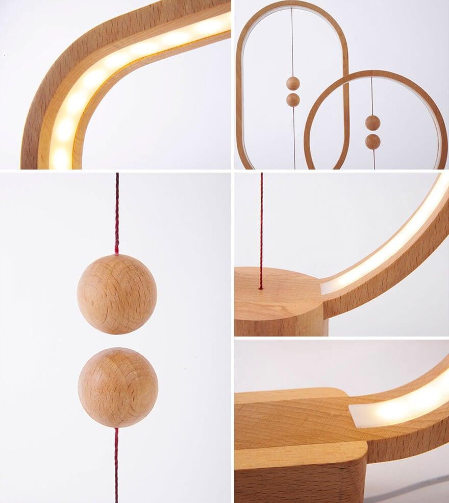 wooden lamp levitating switch 9