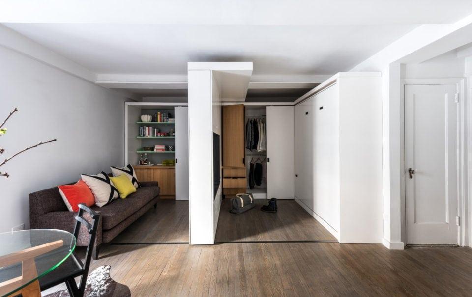 On Rails minimalist apartment