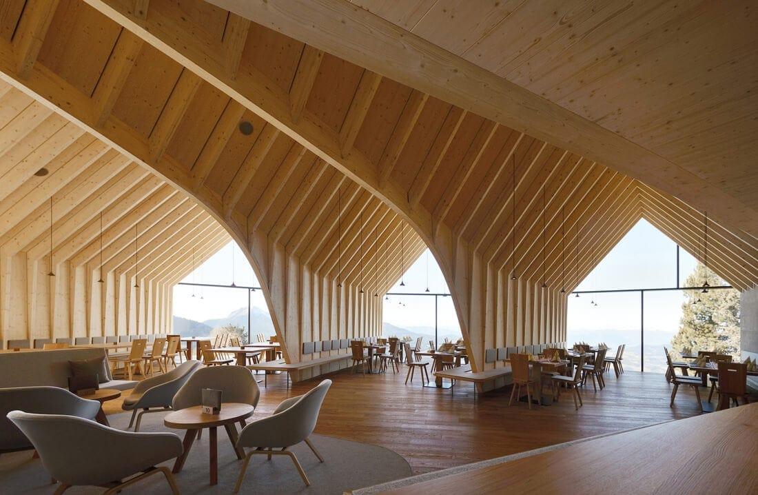 modern mountain restaurant italian alps 11