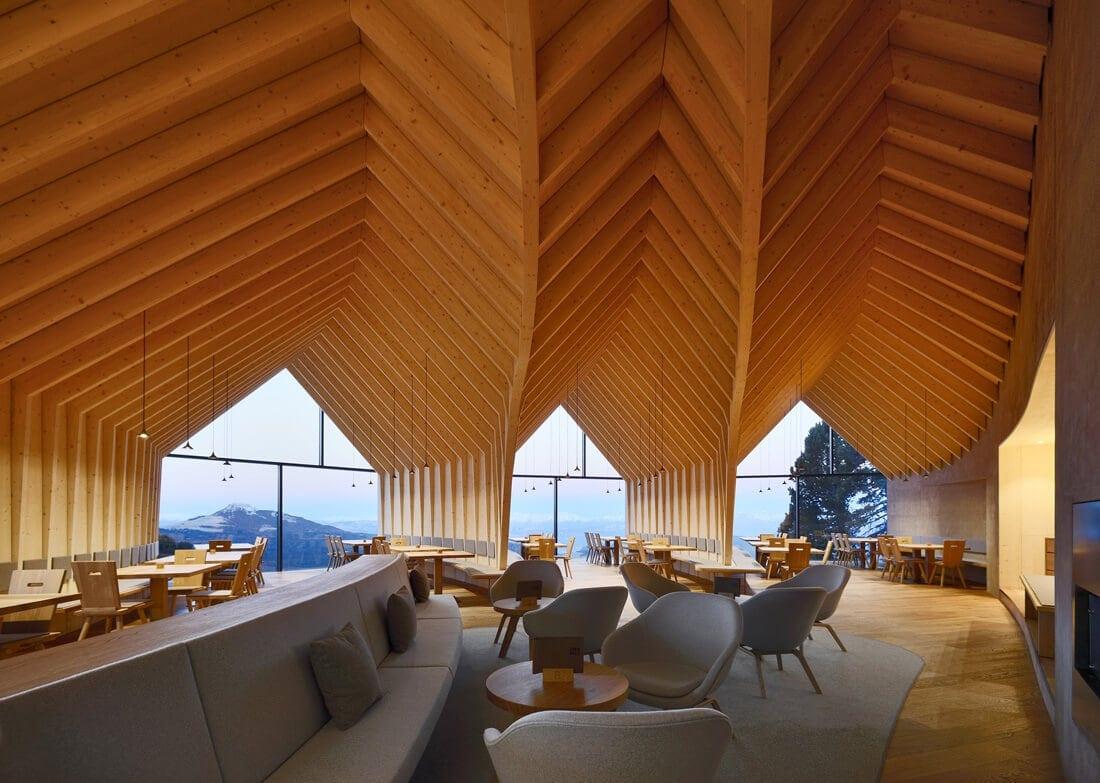 modern mountain restaurant italian alps 9