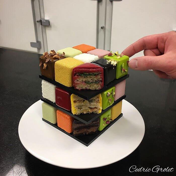 rubiks cube cake pastry cedric grolet 11