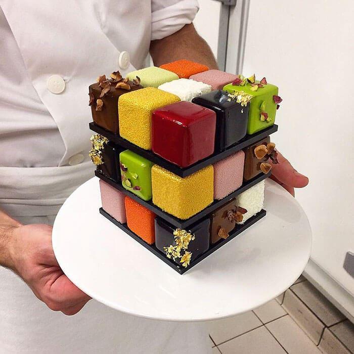 rubiks cube cake pastry cedric grolet 12