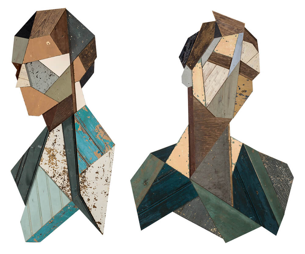 geometric portraits reclaimed wood strook 7 2