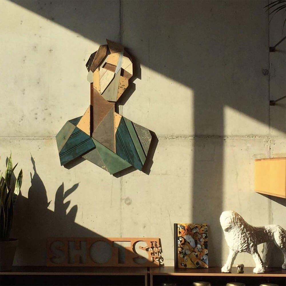 geometric portraits reclaimed wood strook 8 2