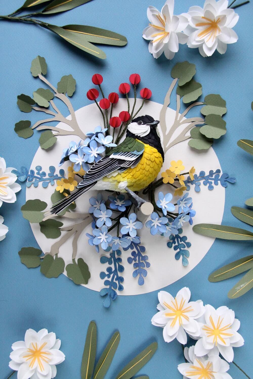 paper bird sculptures diana beltran herrera 2