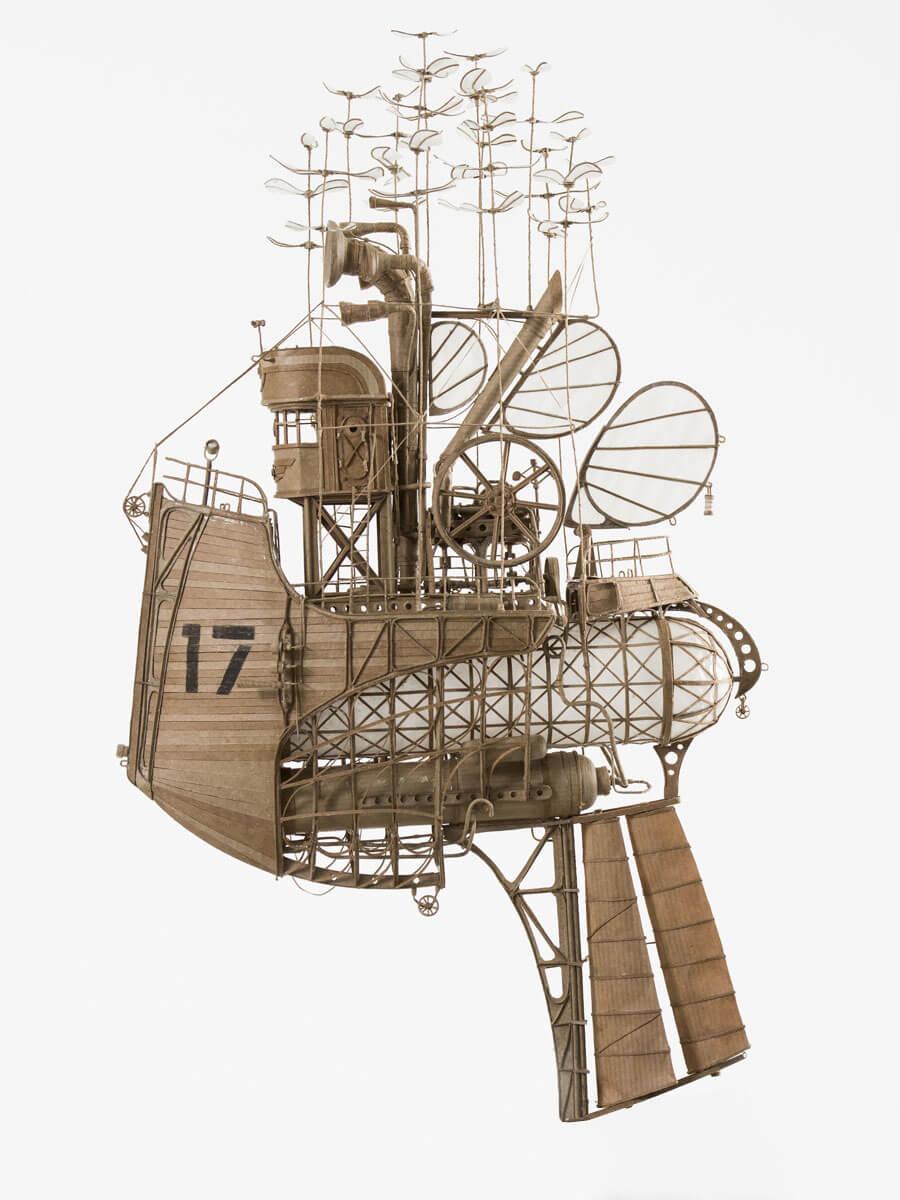 sculptural airships cardboard 1