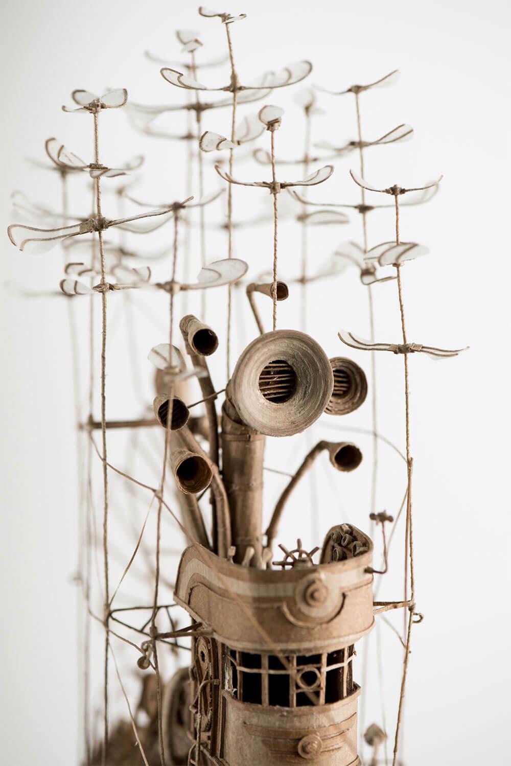 sculptural airships cardboard 2